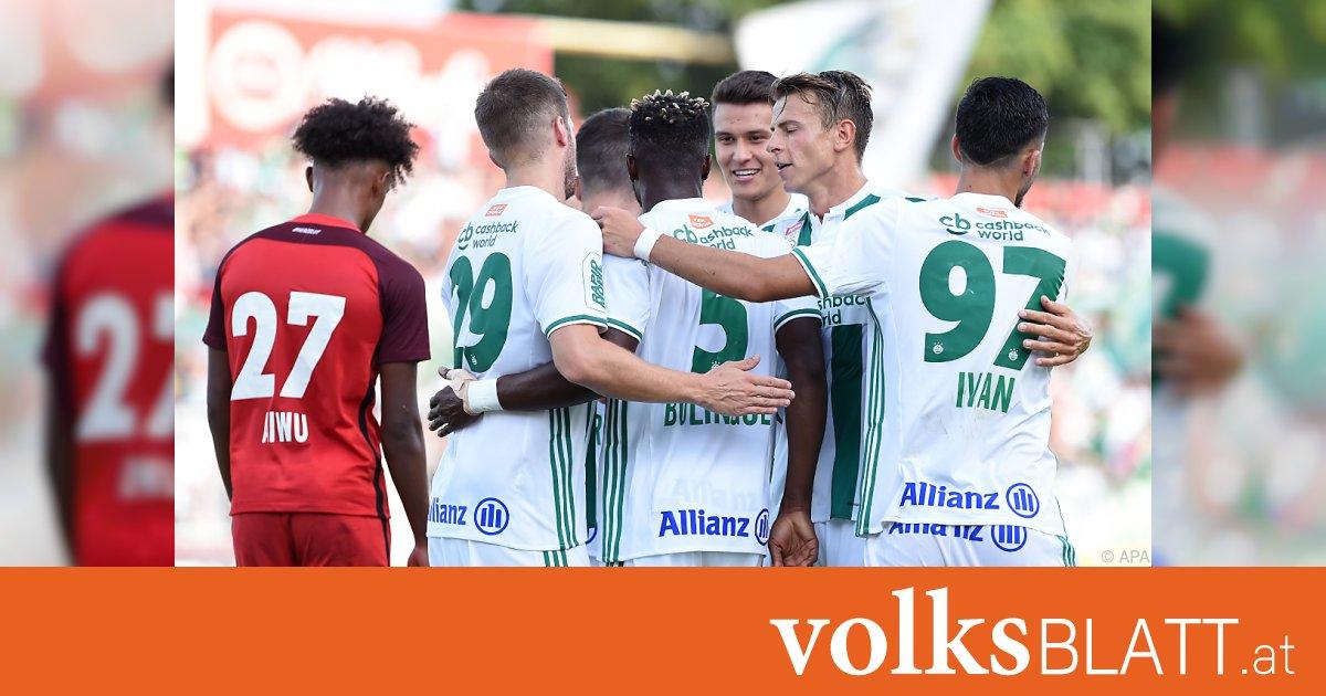 Rapid erster Tabellenführer - 4,5 Tore im Schnitt pro Spiel
