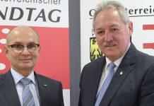 Den Landesrechnungshof gibt es seit 17 Jahren, seit gut fünf Jahren steht Friedrich Pammer — im Bild mit LT-Präsident Viktor Sigl — an der Spitze dieser Finanzkontrolleinrichtung.