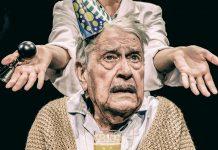Eugen Victor als Herr Aigner und Paula Kühn als Clown