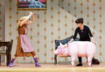 Kristin Hölck und Lynsey Thurgar haben Schwein