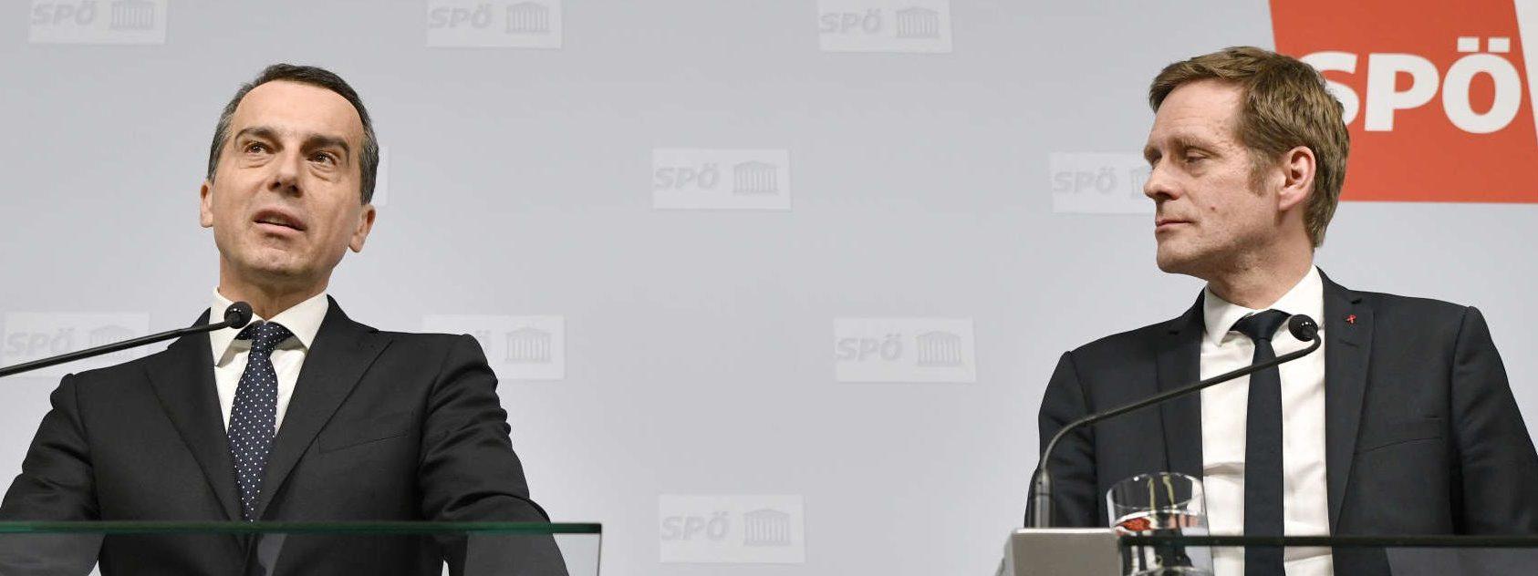 SPÖ-Chef Christian Kern (l.) und Jan Krainer — er wird den SPÖ-Fraktionsvorsitz im U-Ausschuss übernehmen — glauben, dass der BVT-Ausschuss im Juli oder August startklar sein werde.