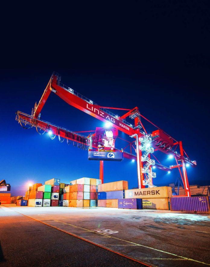 208.916 Container wurden im abgelaufenen Geschäftsjahr im Linzer Hafen umgeschlagen.