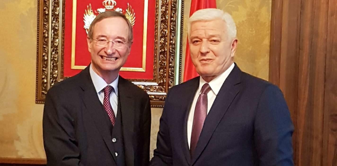 Sprechen sich beide für eine gute Zusammenarbeit aus: WK-Präsident Christoph Leitl (l.) und der montenegrinische Premierminister Dusko Markovic.