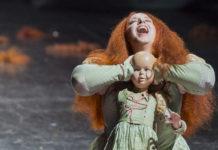 """Gal James in der Oper """"Beatrice Cenci"""", die gestern Premiere feierte."""