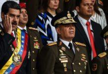 Venezuelas Präsident Nicolás Maduro (l.) vor dem Anschlag.