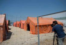 Zeltstadt im Hafen von Algeciras: Spanien breitet sich auf einen weiteren Ansturm von Migranten vor.