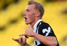 Thomas Goiginger hatte schon im Hinspiel zweimal getroffen, im Auswärtsspiel ebnete er mit seinem 1:0 den Weg zum neuerlichen Erfolg.