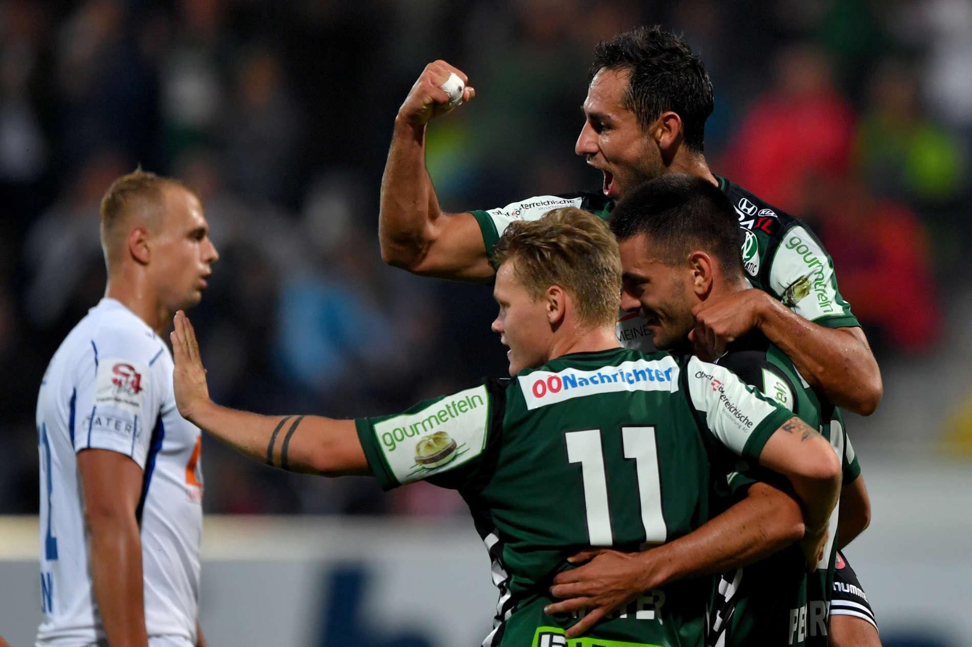 Darijo Pecirep und Thomas Mayer schossen die SV Ried zum 3:0 gegen Horn.