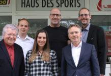 Diese Jury machte sich die Wahl der Kandidaten nicht leicht. Von links: Hans Friedinger (Vorsitzender des Landessportfachrates), VOLKSBLATT-Redakteur Christoph Gaigg, Julia Schiefermüller (LSO), Landessportdirektor Gerhard Rumetshofer, SPORTUNION-OÖ-Präsident Franz Schiefermair und VOLKSBLATT-Sport-Ressortleiter Roland Korntner.