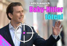 """Die Jugendorganisationen von SPD, Linken und Grünen in Thüringen finden, dass das Satiremagazin Titanic Kanzler Kurz """"zu Recht als Baby-Hitler bezeichnet"""" hat."""