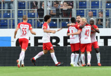 """In der heimischen Bundesliga ohne Konkurrenz will Salzburg heute in Leipzig im """"Dosen-Derby"""" auch auf europäischer Bühne jubeln."""