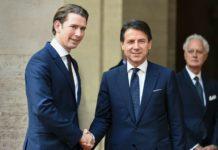 Einigkeit in der Migrationsfrage gab es zwischen Kanzler Kurz (l.) und dem italienischen Premier Conte. In der Frage der Doppelstaatsbürgerschaften für Südtiroler versuchte Kurz, die italienische Seite zu beruhigen.