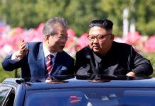 An das Treffen mit Moon Jae-in und Kim Jong-un (r.) knüpfen sich große Hoffnungen auf Frieden und nukleare Abrüstung.