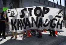 Die Proteste gegen den umstrittenen erzkonservativen Richterkandidaten Bratt Kavanaugh dauerten in den USA auch das Wochenende über an.