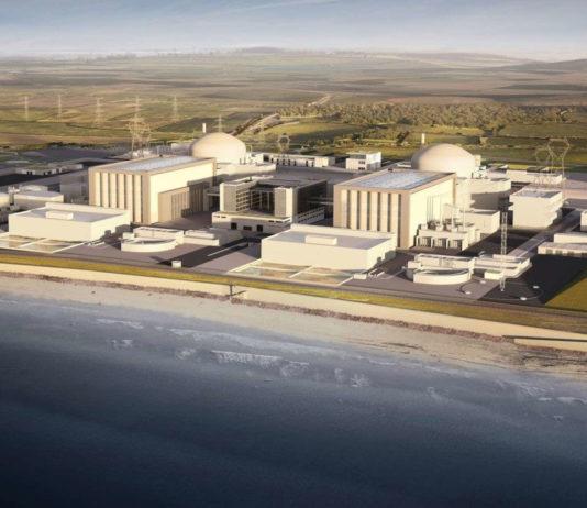So sollen die beiden geplanten Atomreaktoren laut Computergrafik aussehen. Kosten von rund 31. Milliarden Euro würden es zum teuersten AKW machen.