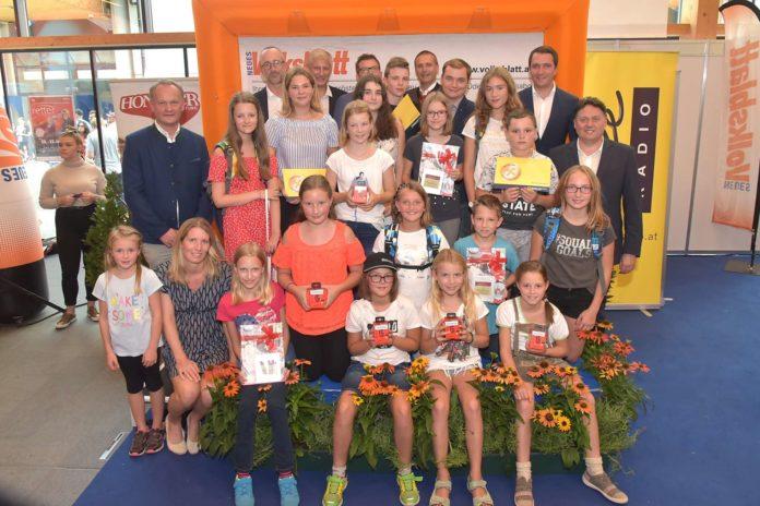 Strahlende Gesichter bei allen Gewinnern, den Ehrengästen, Sponsoren und dem Volksblatt-Team