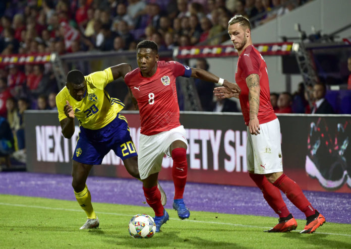 Österreichs Fußball-Nationalteam — im Bild David Alaba (M.) und Marko Arnautovic — geht zuversichtlich in die Nations League.