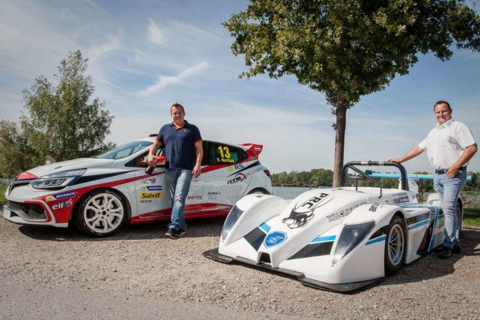 Rene Martinek (links, Renault Clio) und Alexander Frank (PRC S2000) werden es am 23. September eilig haben.