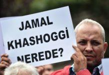 """Wo ist Khashoggi"" fragen Demonstranten in Istanbul."