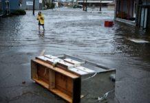 """""""Michael"""" hinterließ Überschwemmungen und Verwüstungen."""