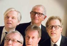 1. Reihe von links: Helmut Schmidauer, Rudi Klinger, Wolfgang Pfeiffer; 2. Reihe von links: Helmut Schmidauer jr., Günther Postl