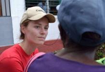 Miriam Ebner ist auf Sulawesi im Hilfseinsatz
