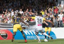 Mit diesem Schuss ins Glück bescherte Joao Victor dem LASK im letzten Heimspiel gegen Salzburg einen 1:0-Sieg.