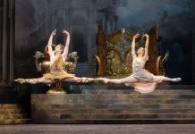 Die Tänzer errangenden Sieg des Abends:Denys Cherevychko als Aminta, Nikisha Fogo als Sylvia