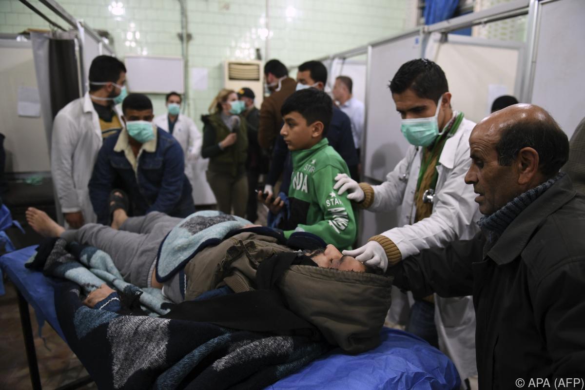 Angeblich mehr als 100 Verletzte bei Giftgas-Angriff in Syrien