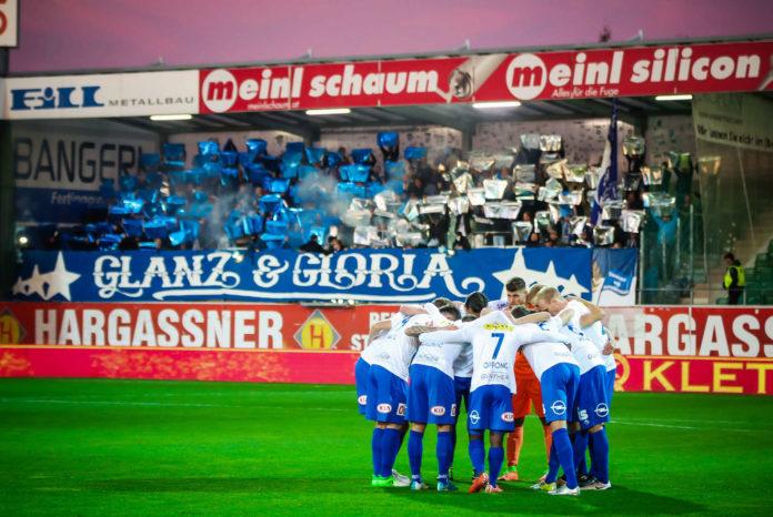 Das Auftreten des FC Blau Weiß Linz am Freitag in Ried sorgt für verstärkte Sicherheitsaufkommen.