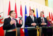 Präsentierten die Reform (v. l.): ÖVP-Klubchef August Wöginger, Kanzler Sebastian Kurz, Vizekanzler Heinz-Christian Strache und Sozialministerin Beate Hartinger-Klein.