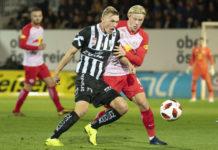 LASK-Flügelflitzer Thomas Goiginger (links/vorne) ersetzt im ÖFB-Team den verletzten Marcel Sabitzer.