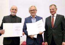 Das Architekten-Duo Luger & Maul mit LH Thomas Stelzer