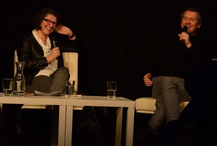 Christine Haiden und Markus Poschner im Gespräch