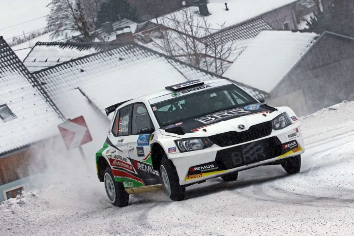 Julian Wagner (Skoda Fabia R5) war am ersten Tag der 34. Int. Jännerrallye nicht zu bremsen.