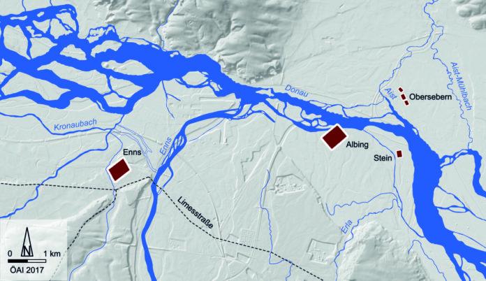 Das Mündungsgebiet von Enns und Aist dürfte für die Römer strategische Bedeutung besessen haben.