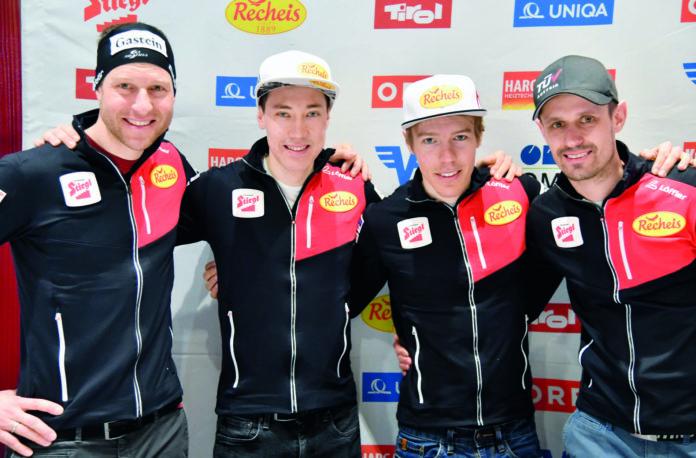 Dieses Quartett soll für die erste Medaille in Rot-Weiß-Rot sorgen (v.l.): Bernhard Gruber (36), Mario Seidl (26), Franz-Josef Rehrl (25) und Lukas Klapfer (33).