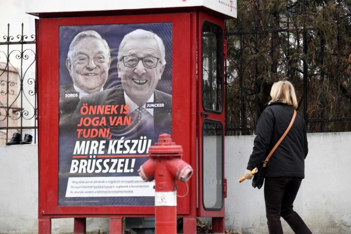 Viktor Orban ist für manche in der EVP untragbar.Orbans neueste Hetzkampagne: Diesmal nicht nur gegen Soros, sondern auch gegen Juncker.