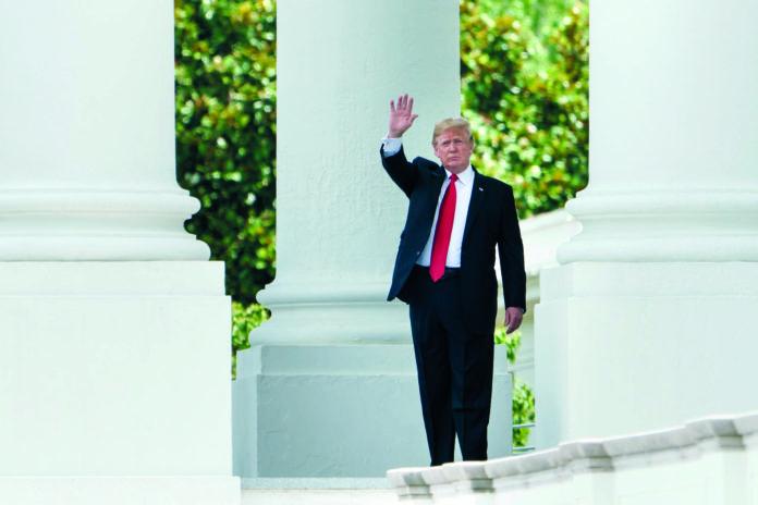 Hier im Weißen Haus wird Präsident Trump heute Abend Bundeskanzler Kurz erwarten.
