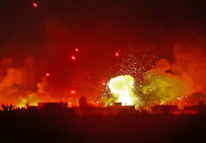 Schlachtfeld Baghus, wo die letzten IS-Kämpfer ausharren.