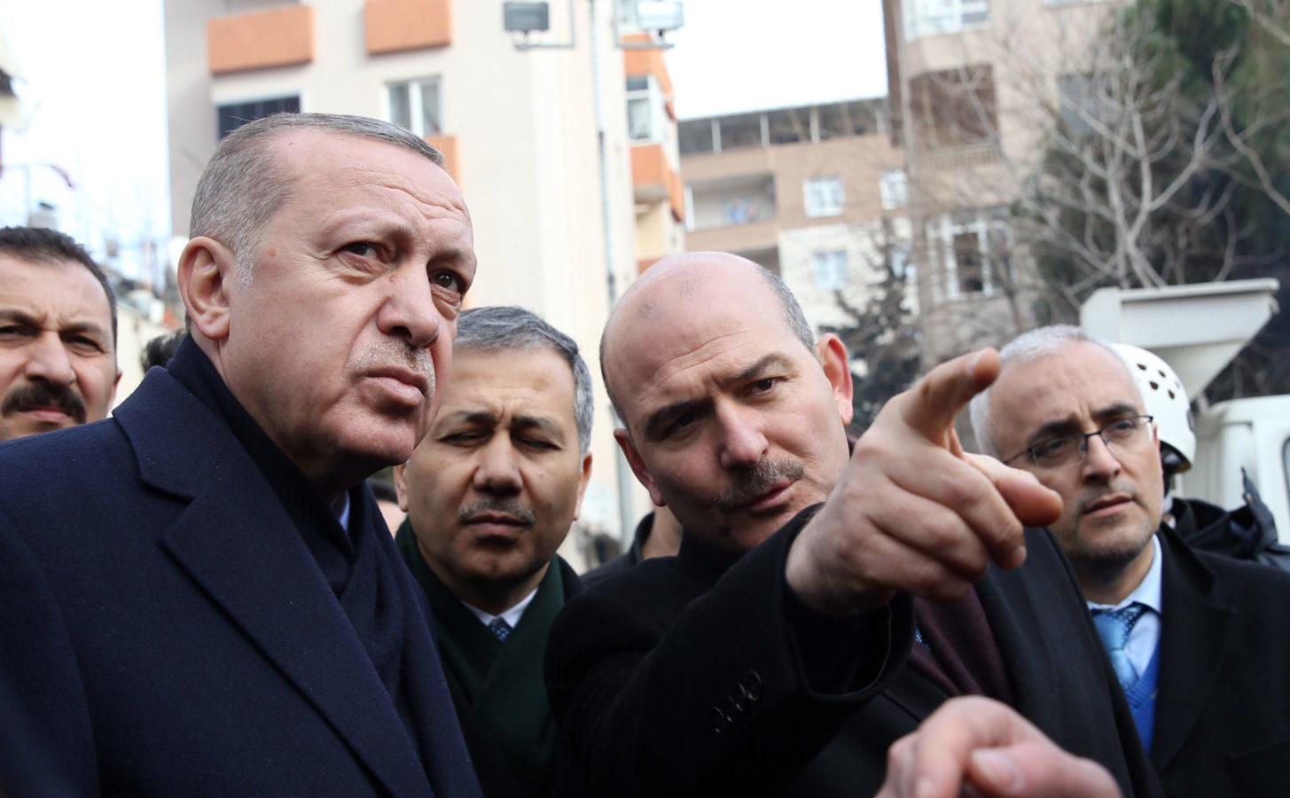 Innenminister Süleyman Soylu mit Präsident Recep Tayyip Erdogan