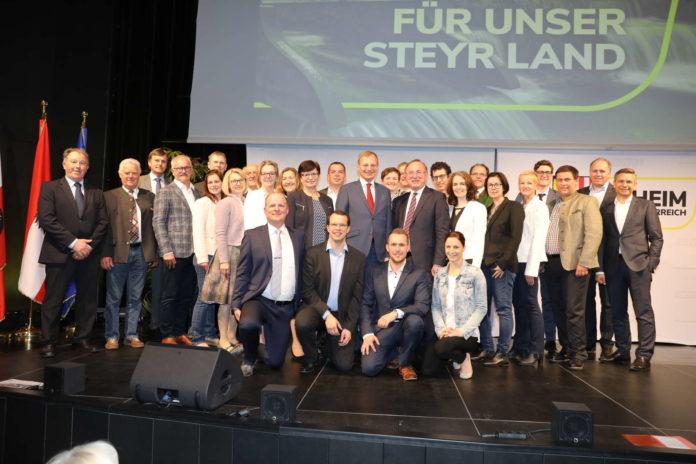 Ein klares Votum jenseits der 99 Prozent gab es für NR-Abg. Johann Singer und sein Parteivorstandsteam beim Bezirksparteitag der OÖVP Steyr-Land — dem nunmehrigen Heimatbezirk von LH Thomas Stelzer.
