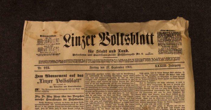 Die VOLKSBLATT-Ausgabe vom 27. September 1901
