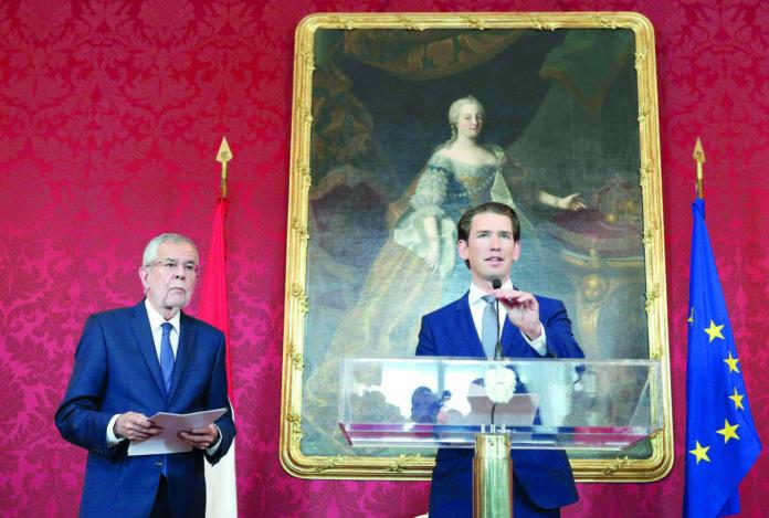 Haben dieser Tage viel zu besprechen: Bundeskanzler Alexander Van der Bellen und Bundeskanzler Sebastian Kurz nach ihrem Treffen gestern Mittag.