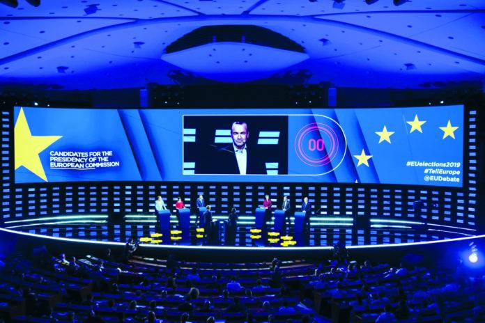 Die erste und einzige direkte Konfrontation aller sechs Spitzenkandidaten im Brüsseler EU-Parlament.