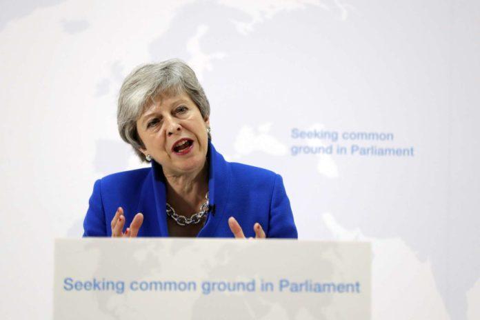 """Theresa May macht ihr """"kühnes Angebot""""."""