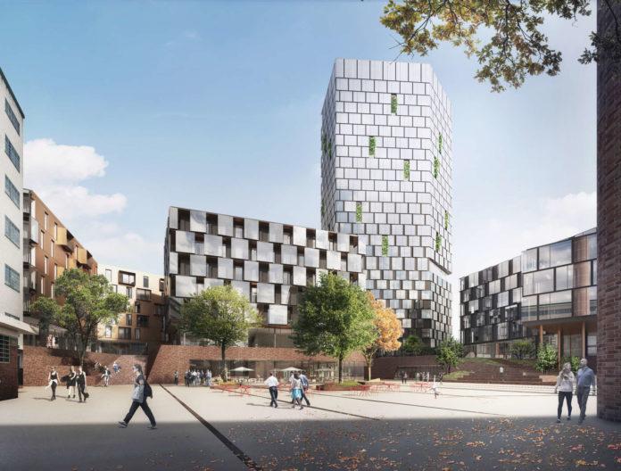 Herzstück des Neubaus ist der 104 Meter hohe Turm in dessen oberster Etage ein Bar situiert sein wird.