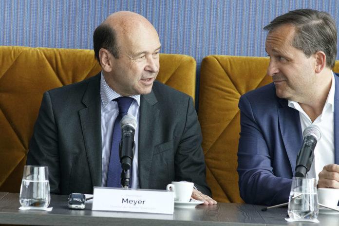 V. l.: Staatsopern-Direktor Dominique Meyer und Brucknerhaus-Intendant Dietmar Kerschbaum