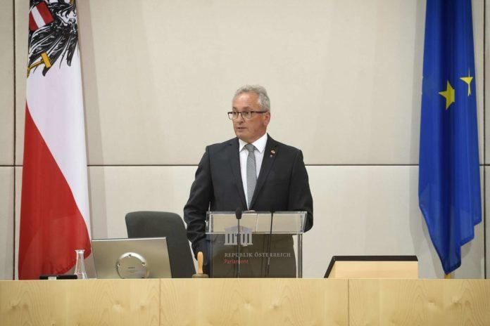 896. Sitzung des Bundesrates - Antrittsrede von Bundesratspr