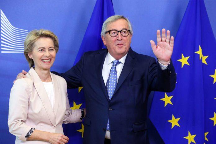 Nachfolgerin in spe: Von der Leyen bei Juncker.